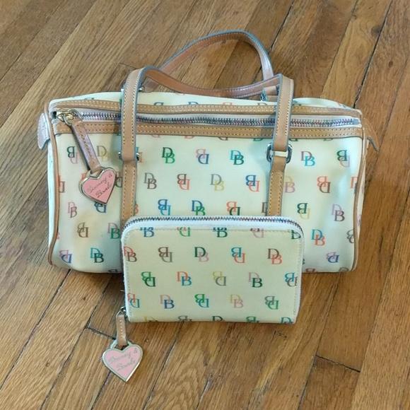 Dooney & Bourke Handbags - Dooney & Bourke • Signature Rainbow Coated Bag